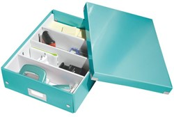 Opbergbox Leitz Click & Store 280x100x370mm ijsblauw