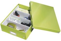 Opbergbox Leitz WOW Click & Store 280x100x370mm groen