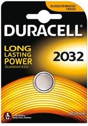 Batterij Duracell knoopcel CR2032 lithium Ø20mm 3V-180mAh