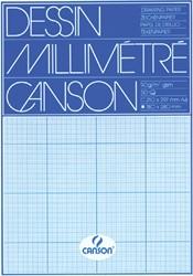 Millimeterblok Canson A4 blauw