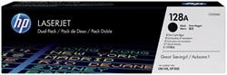 Tonercartridge HP CE320AD 128A zwart 2x