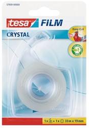 Plakband Tesa film Crystal 19mmx33m op dispenser