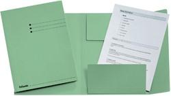 Dossiermap Esselte 275gr 3kleppen groen