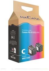 Inkcartridge Wecare Canon PG-512 CL-513 zwart + kleur