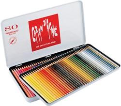 Kleurpotloden Caran d'Ache Prismalo 80stuks assorti