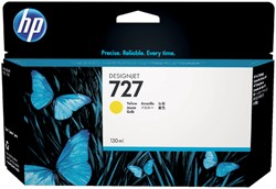 Inktcartridge HP B3P21A 130ml 727 geel