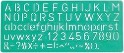 Lettersjabloon Linex 10mm hoofdletters/letters/cijfers