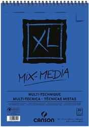 Aquarelblok Canson  XL Mix Media  A4 300gr 30vel spiraal