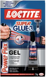 Secondelijm Loctite Powerflex gel tube 3gram op blister