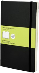 Notitieboek Moleskine large 130x210mm blanco zwart