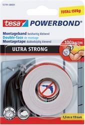 Powerbond dubbelzijdige plakband Tesa ultra 19mmx1.5m