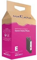 Inkcartridge Wecare Epson T048340 rood