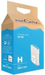 Inkcartridge Wecare HP C9391AE 88XL blauw HC