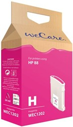 Inkcartridge Wecare HP C9392AE 88XL rood HC