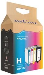 Inkcartridge Wecare HP C2N92AE 920XL zwart + 3 kleuren HC