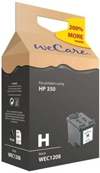 Inkcartridge Wecare HP CB335EE 350 zwart