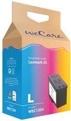 Inkcartridge Wecare Lexmark 18C0035 35 kleur