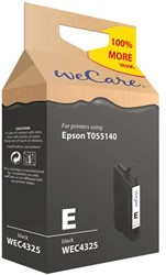 Inkcartridge Wecare Epson T055140 zwart