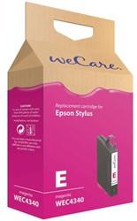 Inkcartridge Wecare Epson T061340 rood