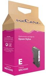 Inkcartridge Wecare Epson T071340 rood