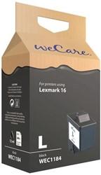 Inkcartridge Wecare Lexmark 10N0016 16 zwart