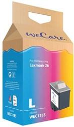 Inkcartridge Wecare Lexmark 10N0026 26 kleur
