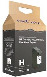 Inkcartridge Wecare HP C6615A 15 zwart