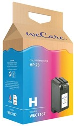Inkcartridge Wecare HP C1823A 23 kleur