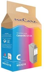 Inkcartridge Wecare Canon BCI-24 kleur