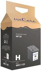 Inkcartridge Wecare HP C6656A 56 zwart