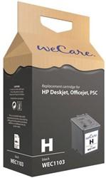 Inkcartridge Wecare HP C8727A 27 zwart