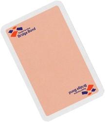 Speelkaarten bridgebond roze