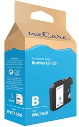 Inkcartridge Wecare Brother LC-123 blauw