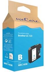 Inkcartridge Wecare Brother LC-123 blauw