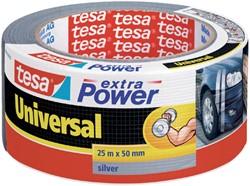 Plakband Tesa 50mmx25m extra Power zilver