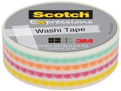 Plakband Scotch Expressions Washi 15mmx10m funky dots