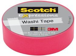 Plakband Scotch Expressions Washi 15mmx10m pink