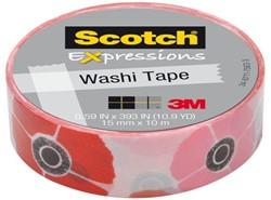 Plakband Scotch Expressions Washi 15mmx10m poppy