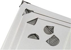 Hoekclip LPC zilverkleurig 100stuks