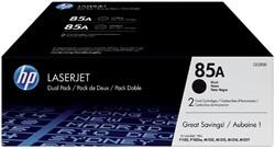Tonercartridge HP CE285AD 85A zwart 2x
