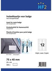 Badgekaart Opus 2 75mmx40mm 180gr wit