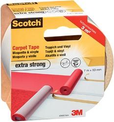 Dubbelzijdige plakband Scotch tapijt 50mmx7m extra strong