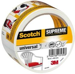 Plakband Scotch Supreme 48mmx10m universeel wit