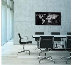 Glasbord Sigel magnetisch 910x480x15mm wereldkaart