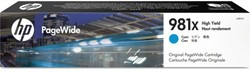 Inkcartridge HP 981X L0R09A HC blauw