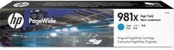 Inkcartridge HP L0R09A 981X blauw HC
