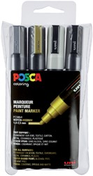 Verfstift Posca  1.8-2.5mm ass set à 4stuks