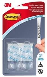 Bevestigingsstrip Command 3M 17091CLR 2 ovale haken medium