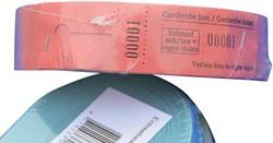 Garderobebonnen Combicraft nummering 2x 1 t/m 500 blauw