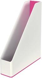 Tijdschriftcassette Leitz WOW wit/roze